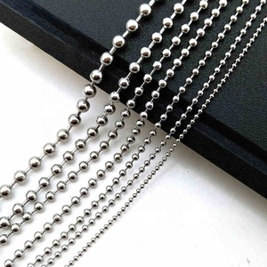 1mm 1.5mm 2mm 2.4mm 4.5mm 8mm 10mm 14k Gold Plated Stainless Steel Ball Chain Necklace with Connector