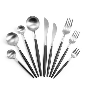 Luxury Knife Fork Spoon Chopsticks Silver Stainless Steel Flatware Cutlery Set