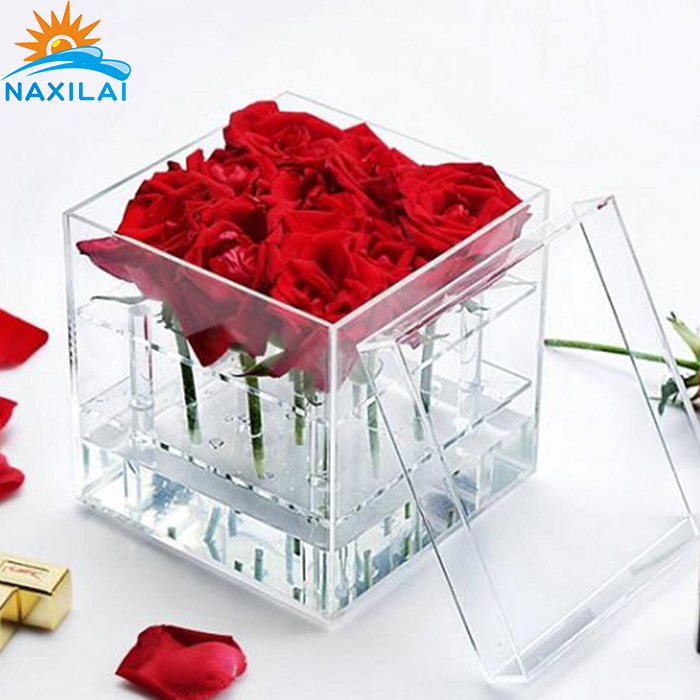 NAXILAI Wholesale Acrylic Jewelry Box Acrylic Flower Box with Holes.jpg