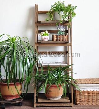 Etonnant Outdoor Wood Plant Stands,garden Plants Shelves