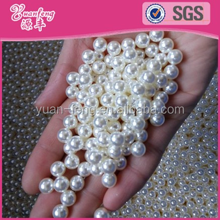 Factory Wholesale Shiny ABS Round 6MM Loose Pearls No Holes