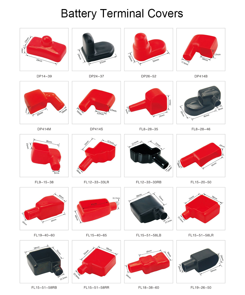 Soft plastic battery terminal protector ,PVC Battery Terminal Insulating Protector Covers