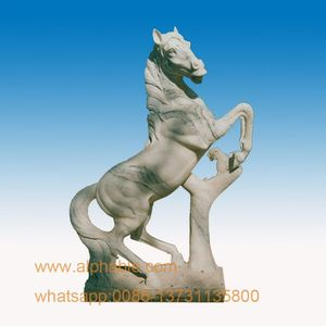 White marble horse statue For Sale