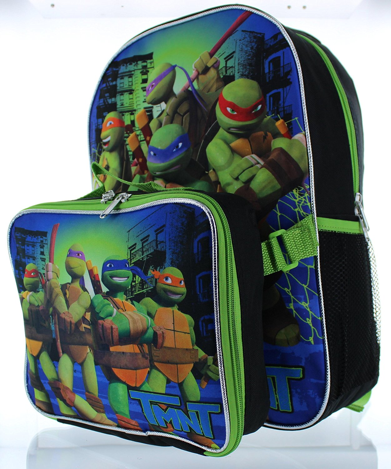 TMNT Back Pack /& Water Bottle Sandwich Container SET Ninja Turtle Lunch Box