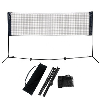 Wholesale price of the factory 4M folding adjustable height portable badminton set net