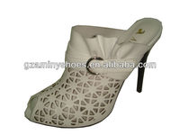 Lady open back shoes