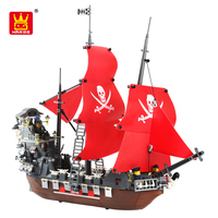 Wange china DIY model toys the pirate ship ABS plastic building blocks for children