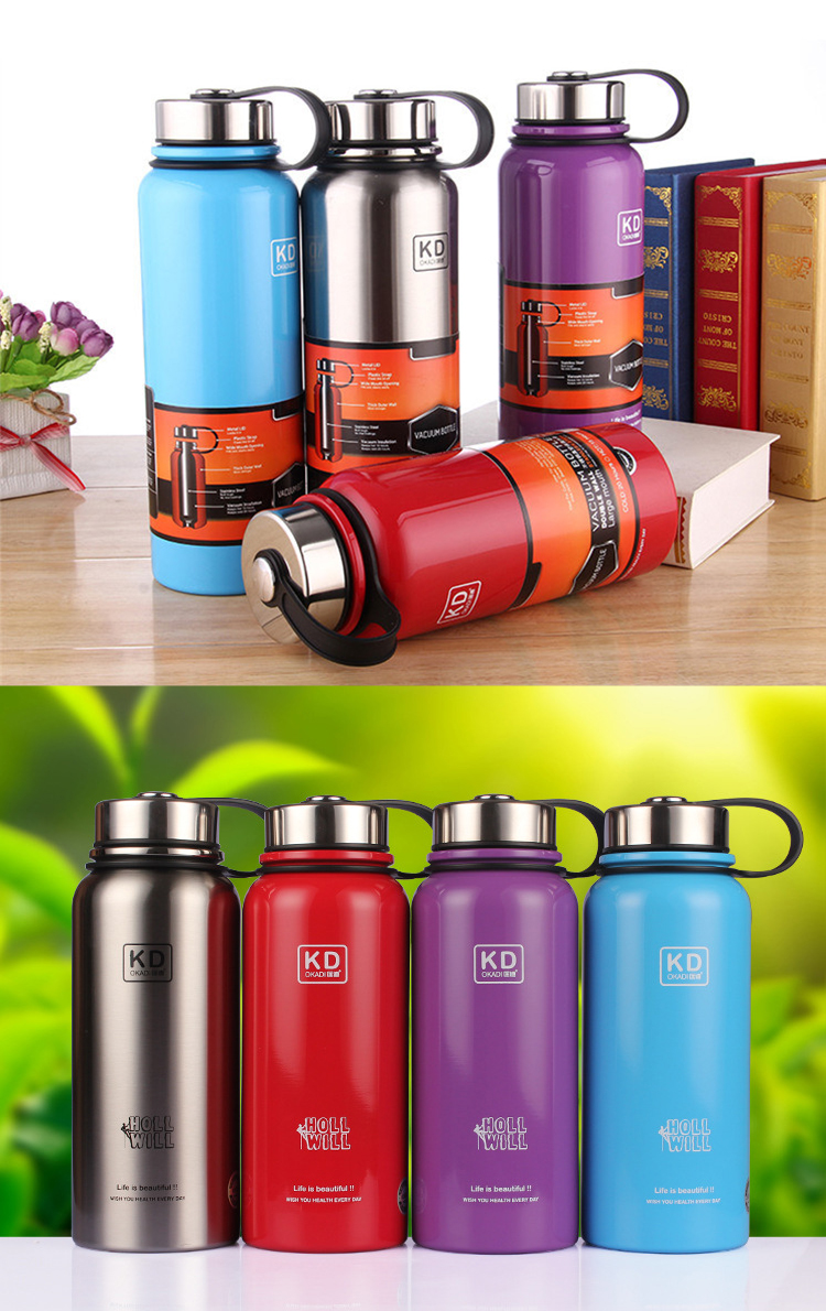 1.5L stainless steel double wall vacuum water bottle sport water bottle chinese thermos