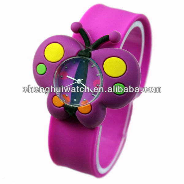 Funny cute 2017 cartoon summer Kids Rubber silicone Band Watches new trendy lovely wrist watch chirld
