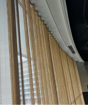 Good flexibility decorative metal chain door curtain