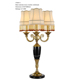 decorative copper classic ceramic led table lamp for hotel bedroom