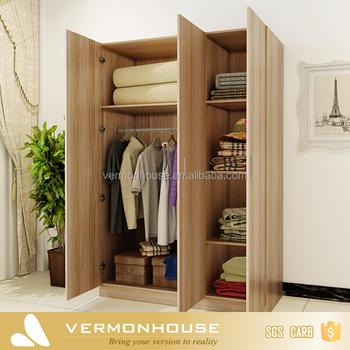 Modular Assemble European Walk In Closet Furniture With Sliding Door