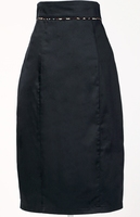 women fashion pencil skirt / latest design slim fit casual knee length pencil skirt