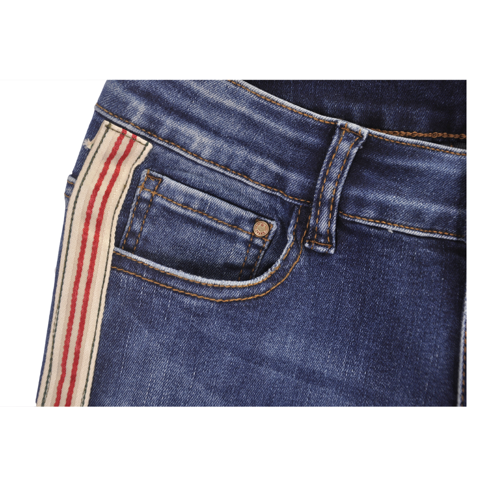 Enthusiastic 1pc Women High Waist Jeans Stretchy Dark Blue Button Fly Denim Skinny Pants Trousers With Pocket Bottoms Jeans