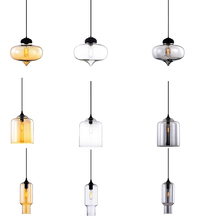 American stylish multiple design clear smoky amber glass pendant light