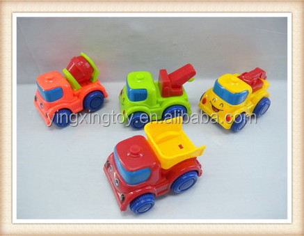 Plastic Friction construction truck friction car friction toys