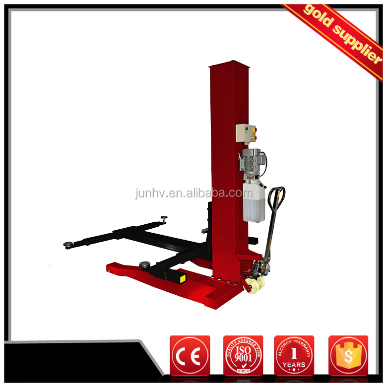 1 post mobile one post car lift with CE JH-M2500 /Portable single post