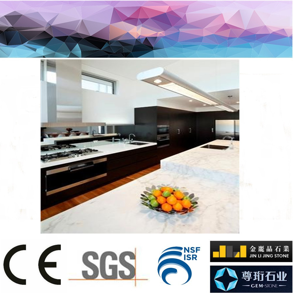 Foshan factory directly artificial quartz pink marble countertop