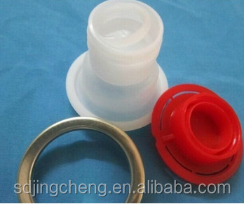 42mm pull ring plastic caps / pouring cap plastic bottle spout cap with metal ring