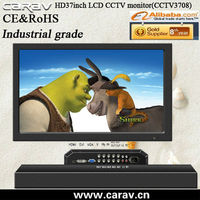 37inch industrial lcd monitor+TV cabinet+operating desk combo cctv wall