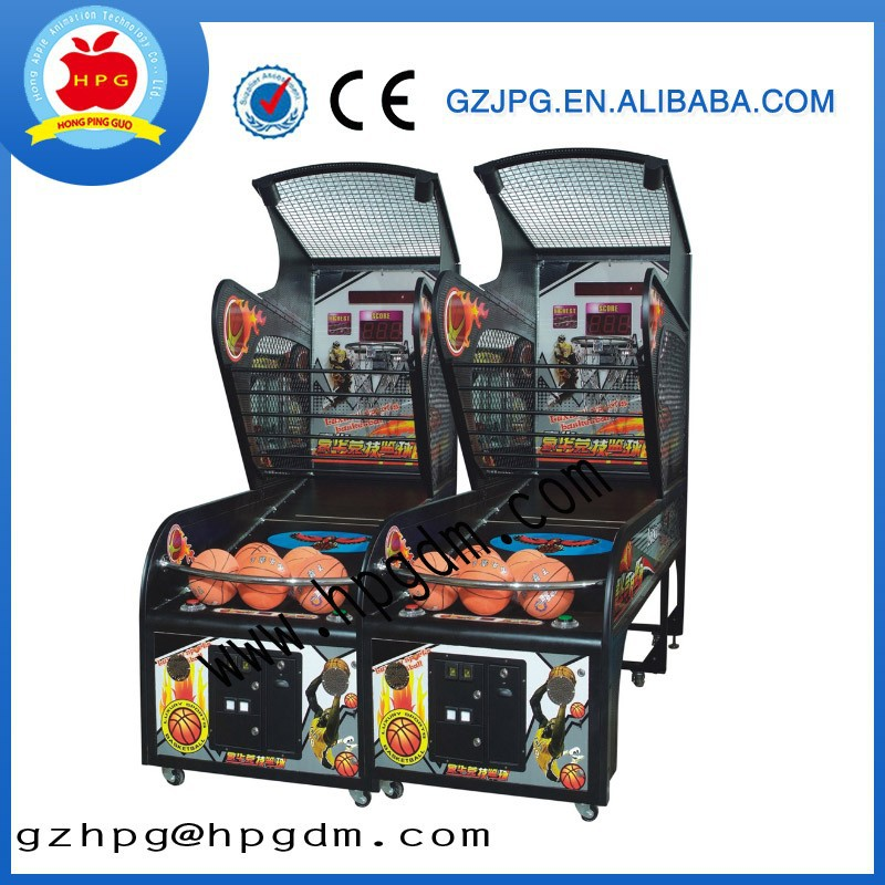 coin operated arcade amusement basketball game machine