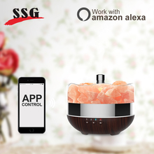 New Product Amazon Alexa Compatible Ultrasonic Mist Decorative Salt Lamps