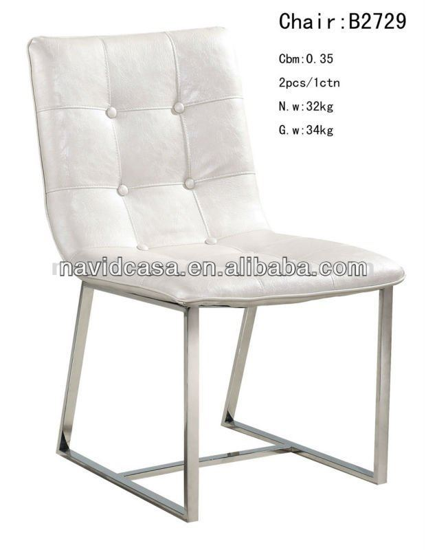 moderne goedkope witte lederen restaurant stoelen