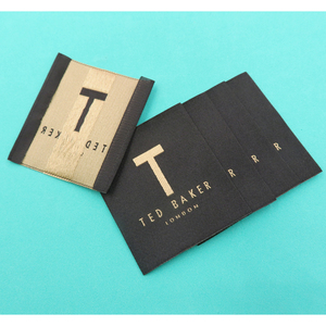China factory brand name high quality Custom Woven clothing luxury Damask Labels