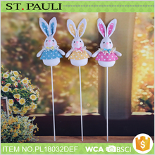 cheap long ear bunny stick decoration unique wholesale novelty gifts for easter
