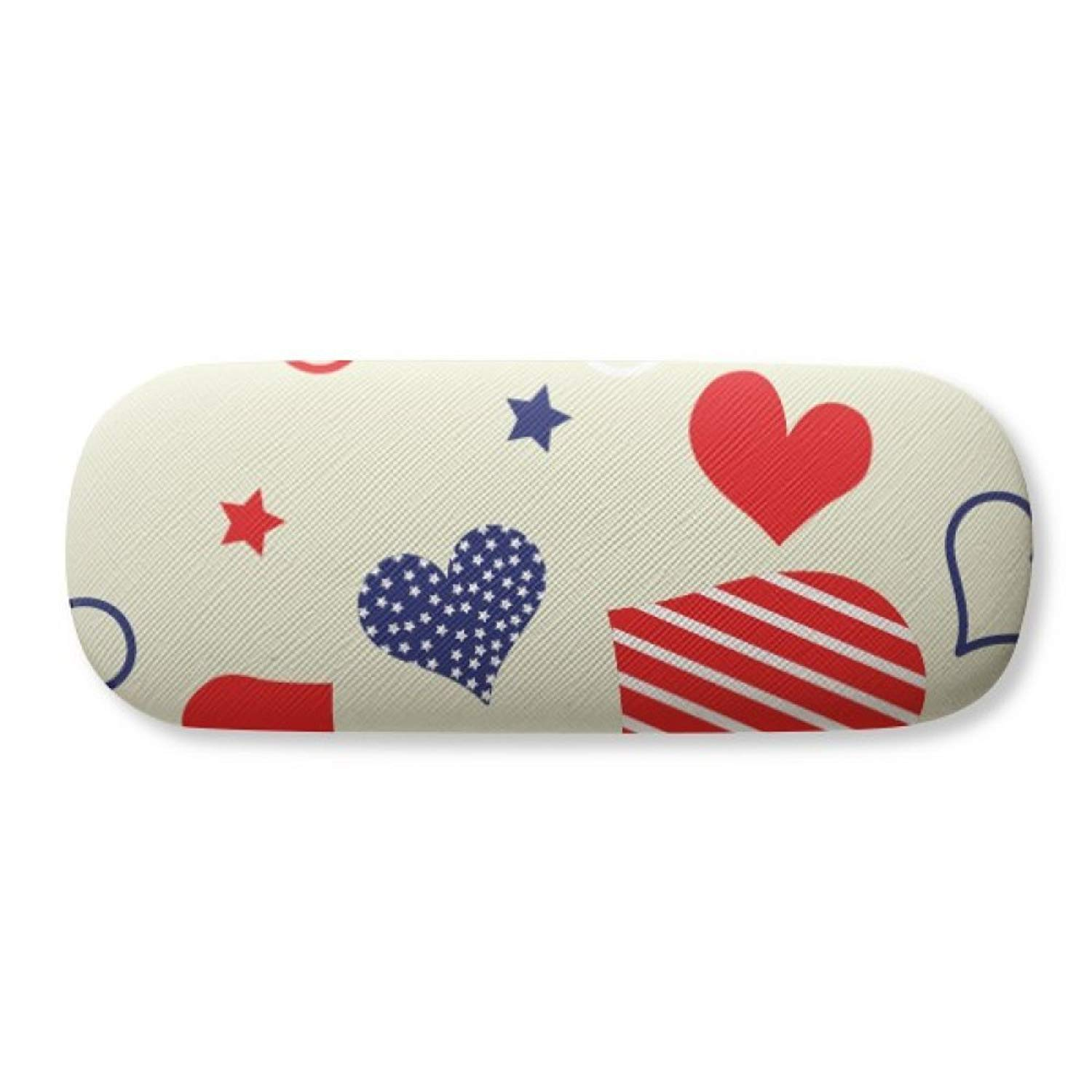 Pineapple Red Fruits Picture Blue Water Glasses Case Eyeglasses Clam Shell Holder Storage Box