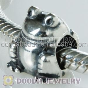 Wholesale Cheap Silver Frog Shape European Beads