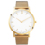 Mesh band brand private label sapphire glass gold luxury mens wrist watch top brand