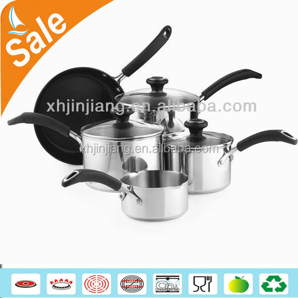 Best price 8 pcs cut and floating edge camping cookware sets kitchen