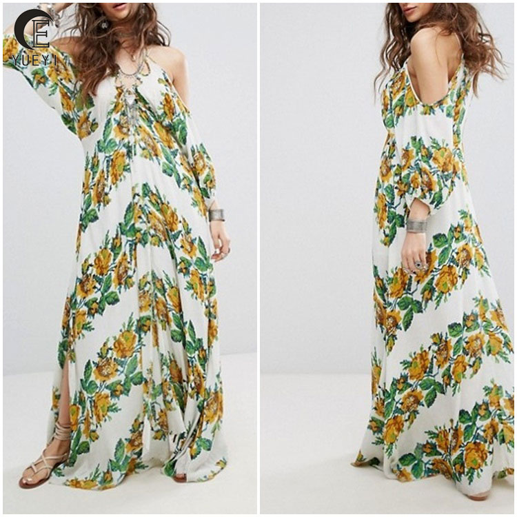 chinese clothing manufacturers floral sundresses women summer maxi dress