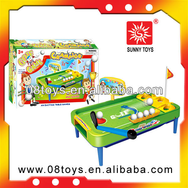 oem kids indoor table game mini golf set with music and light
