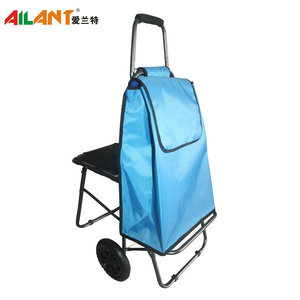 shopping electric bag market vegetable trolley foldable