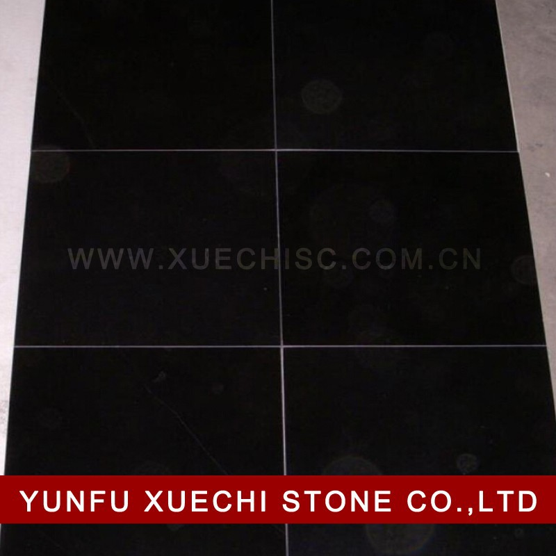Black grante slabs and black granite tiles