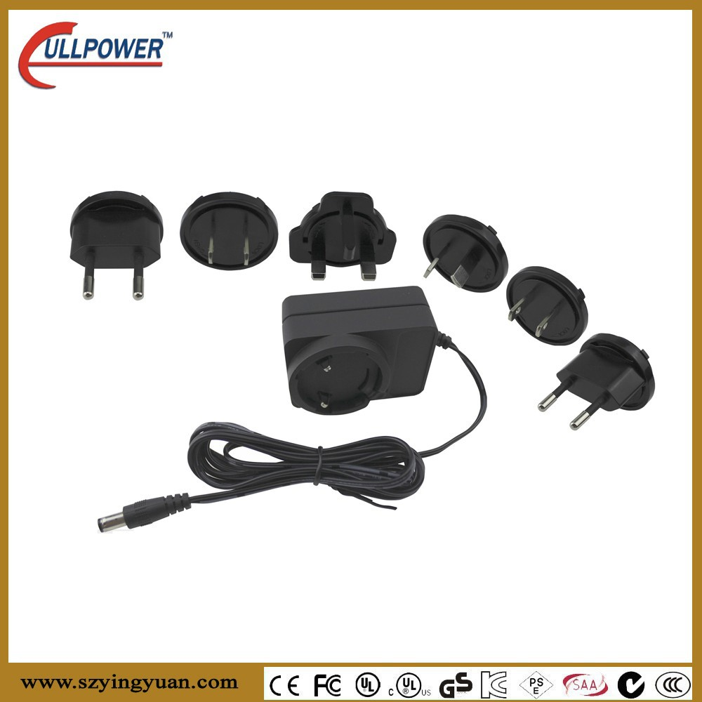 12W Universal EU, SAA, UL USB Charger by safety approved AC to DC with different plugs