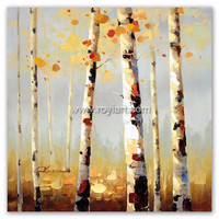 The Modern Birch Tree Oil Painting On Canvas for sell