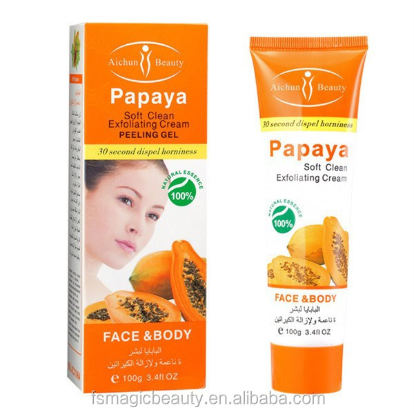 Aichun Papaya Soft Clean Exfoliating cream peeling gel face care body creams