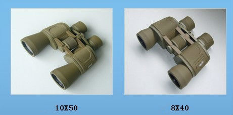 Porro military binoculars 8x40&10x50 in khaki colour and large eyepiece diameter