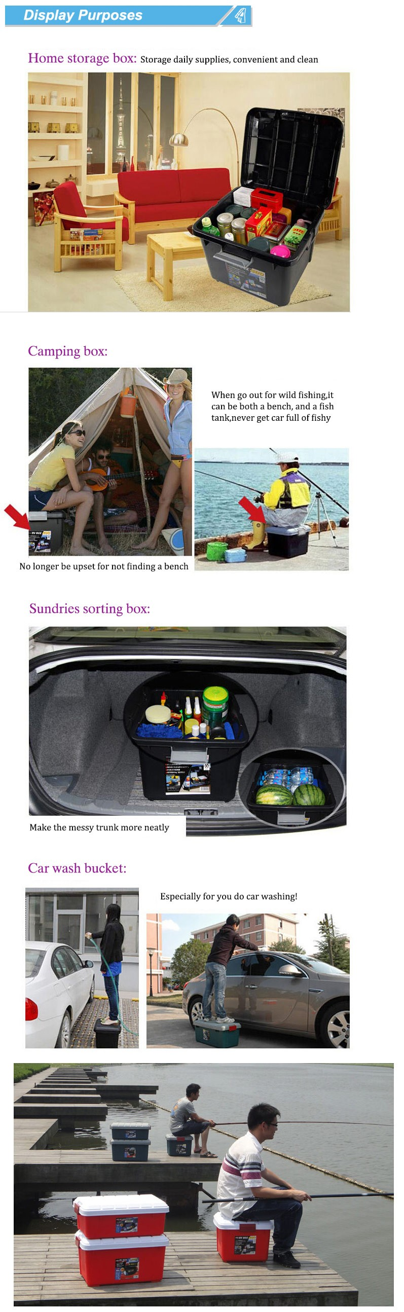 heavy duty storage case car storage box