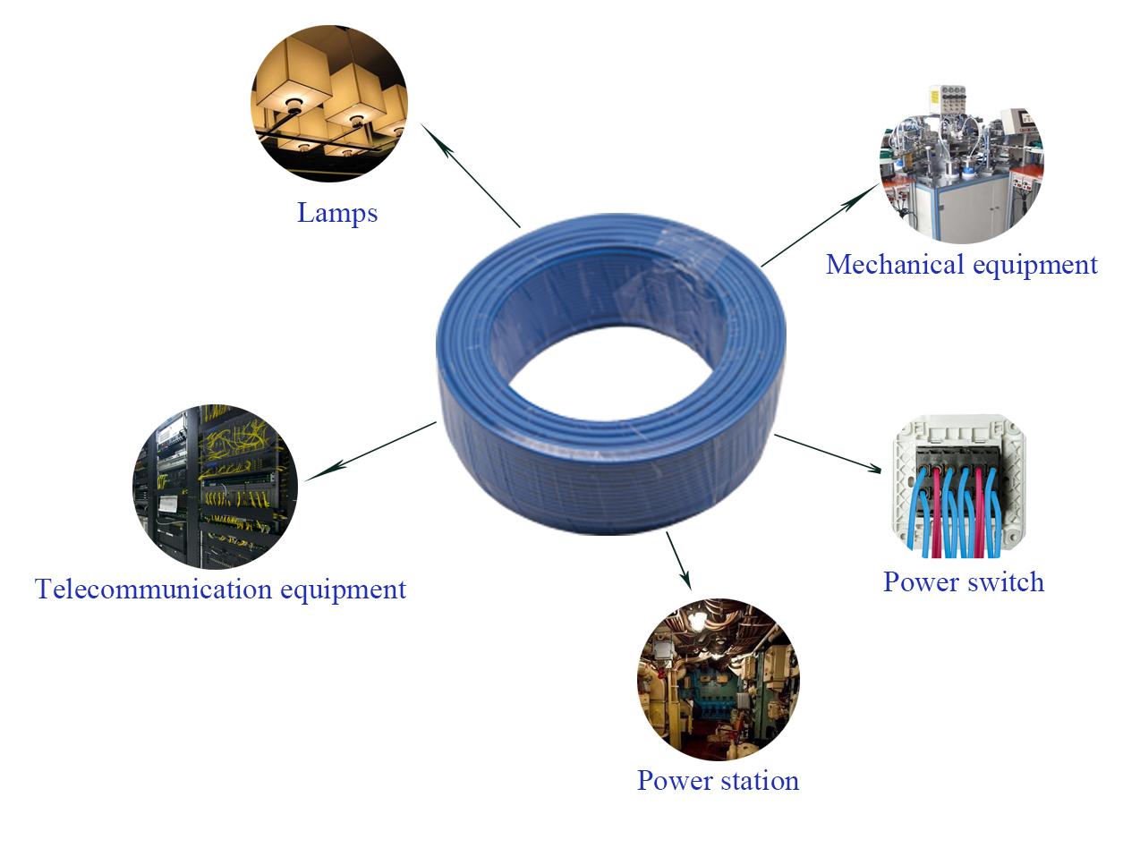 4 Core Pvc מבודד חוט 300/500V מוצק נחושת חשמלי שטוח כבל