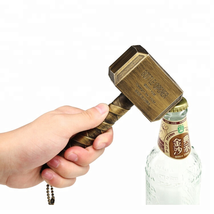 The Avengers Creative 3D Thor Antique Metal Hammer Bottle Opener фото