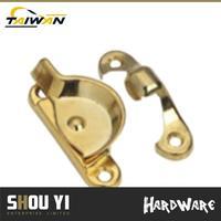 Brass Plated zinc hotel room door handle set Sash door lever lock