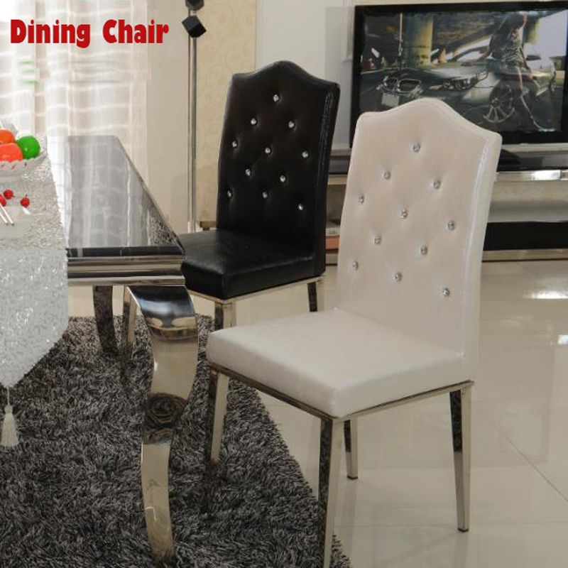 stainless steel dining room chairs | New-100-Stainless-steel-Leather-dining-chairs-fashion ...
