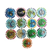 Manufacturer Custom Logo Golf Ball Markers Clay Poker Chips with Tube Pack