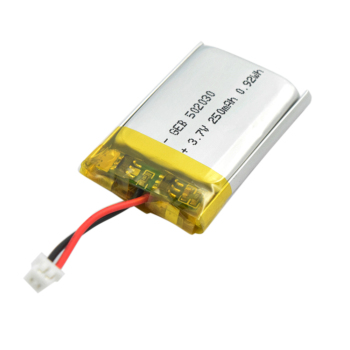 Rechargeable hot sale 502030 3.7v with 250mah li-ion battery