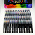 48+2 watercolor markers 2 decks artist brush marker pens set