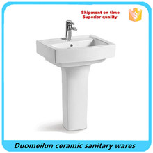 Chaozhou bathroom rectangular japanese water pedestal basin /sinks